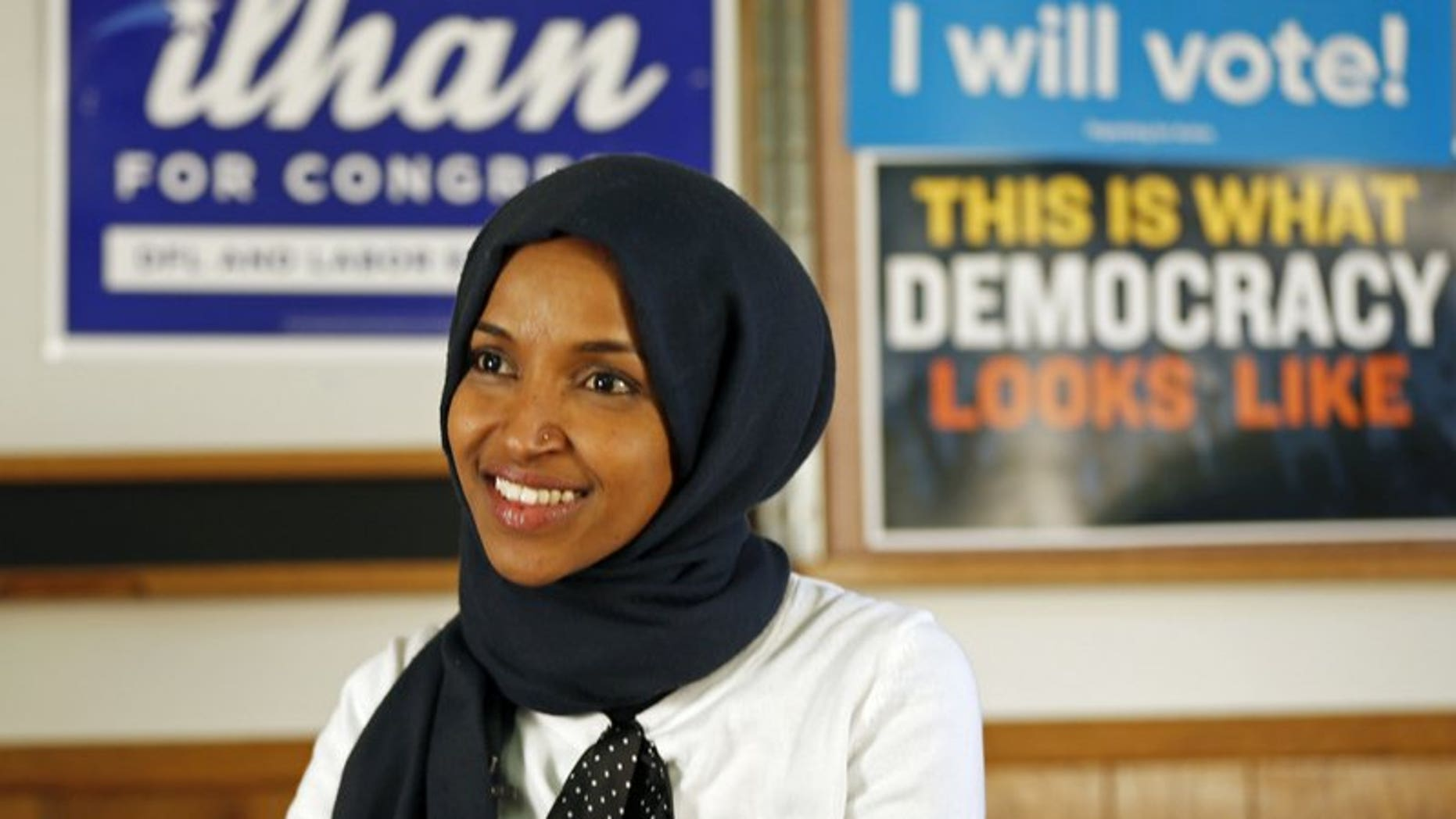 Hard-left Democratic Rep. Ilhan Omar is facing backlash and accusations of homophobia after claiming that Sen. Lindsey Graham is being blackmailed into supporting President Trump. (Associated Press)