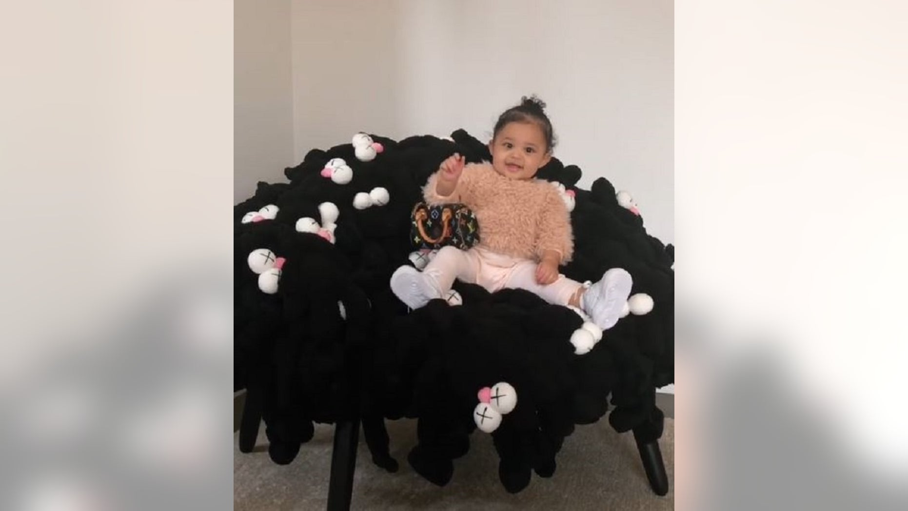 Stormi, daughter of Kylie Jenner and Travis Scott, was gifted a new chair, an art piece that could be valued at up to $2.5 million, a report said.