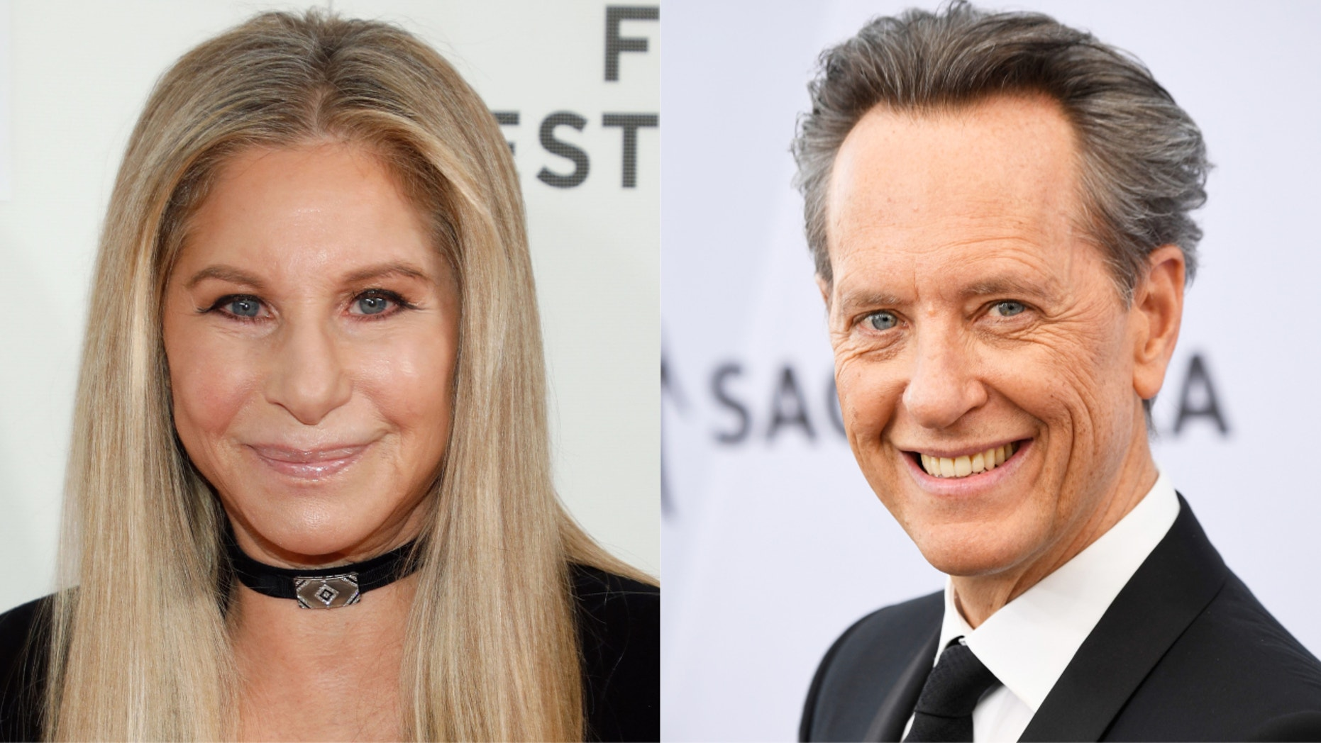 Barbra Streisand and Richard E. Grant