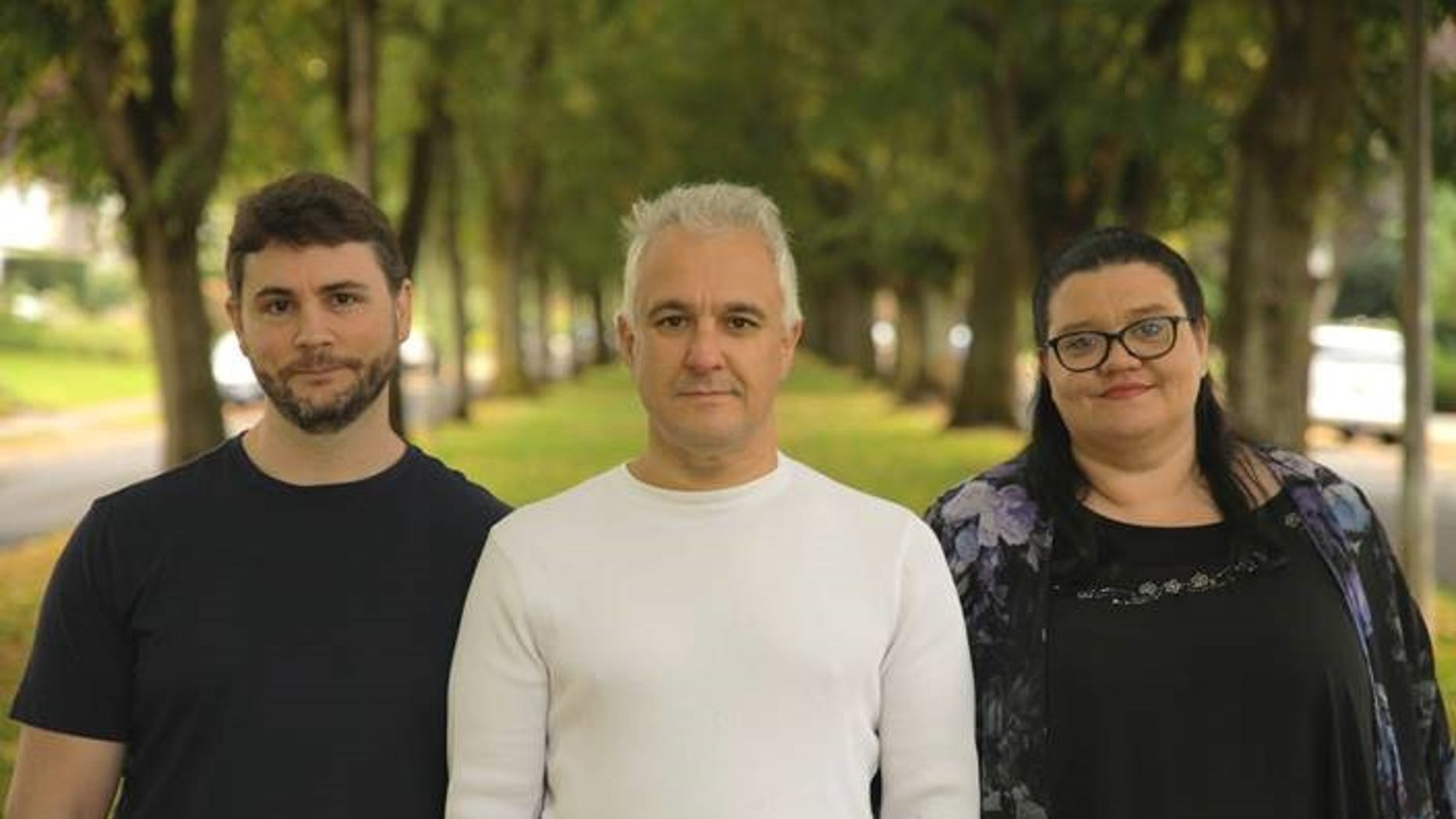 Peter Boghossian (center) was one of three people (flanked by James Lindsay and Helen Pluckrose) who collaborated last year to test the standards of various university disciplines, submitting papers loaded with left-wing buzzwords to journals in fields like feminism, race studies, queer studies, and cultural studies