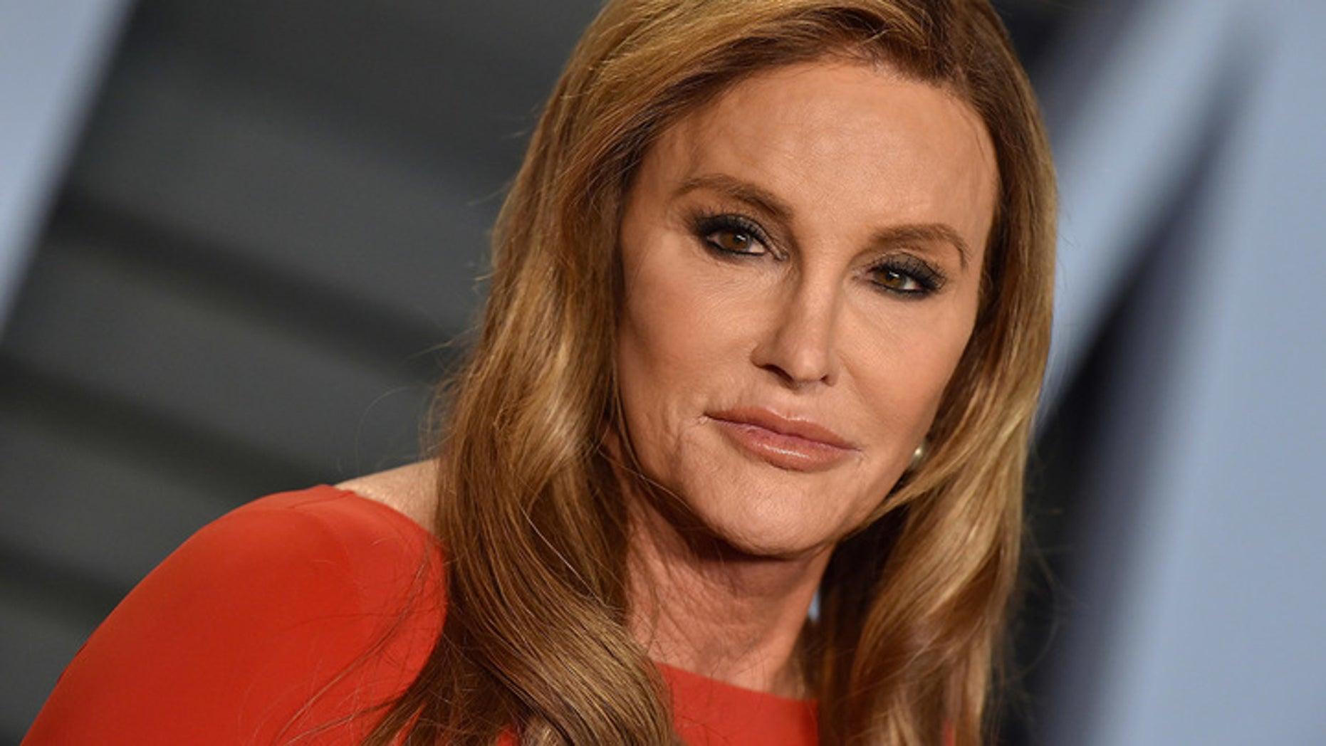 FILE: Caitlyn Jenner attending a 2018 Vanity Fair Oscar Party.