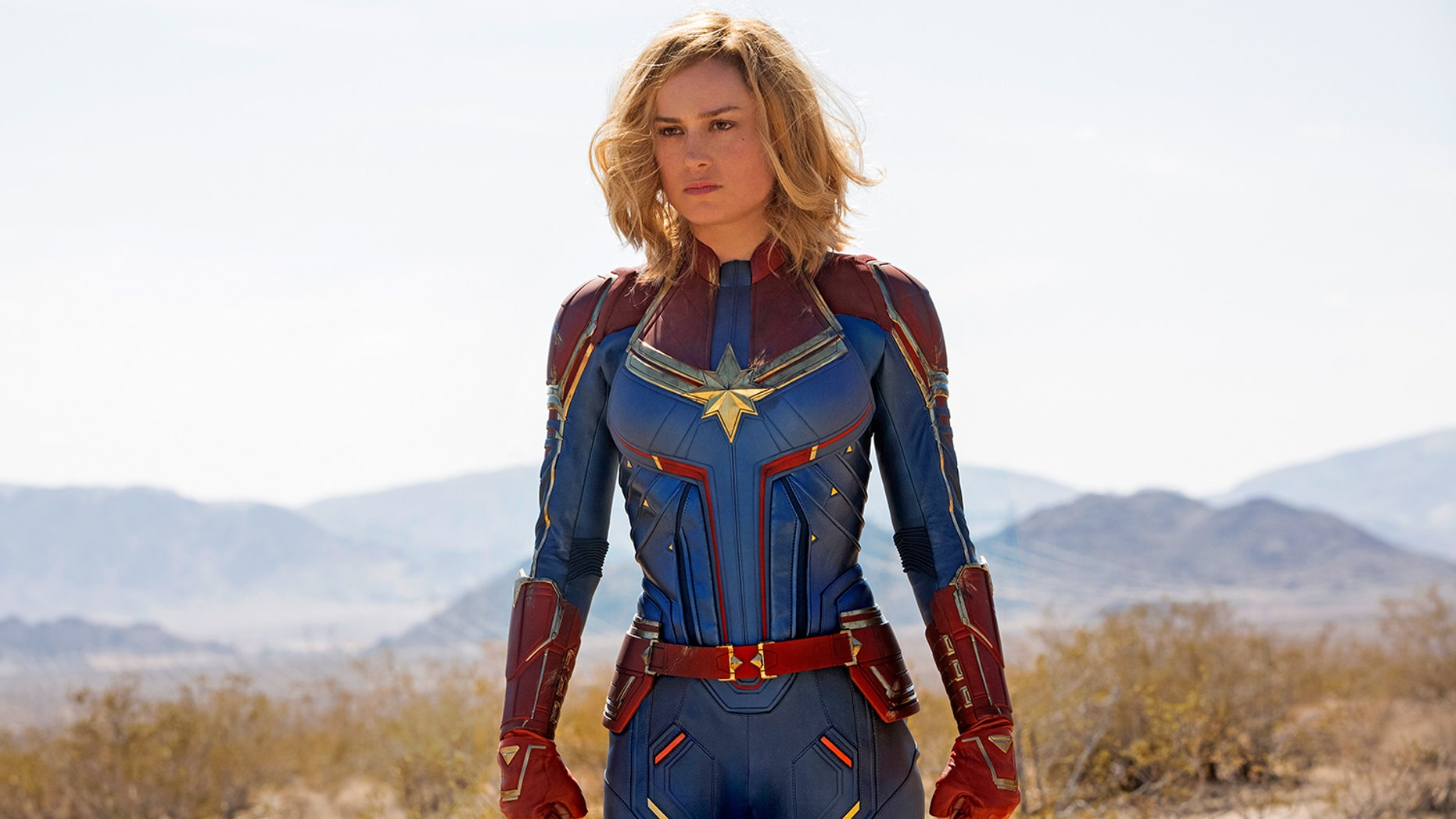 """Brie Larson stars as """"Captain Marvel,"""" a space-traveling superhero who returns to Earth to fight off an invasion. The film hits theaters March 8, 2019."""