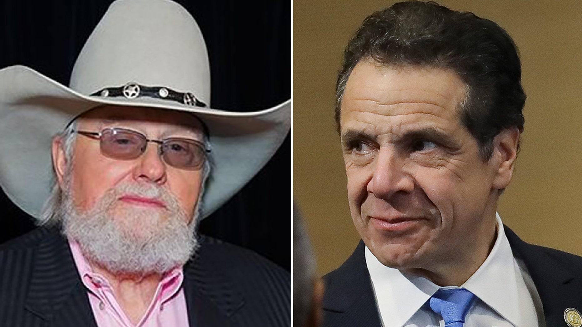 Charlie Daniels and Democratic New York Gov. Andrew Cuomo.