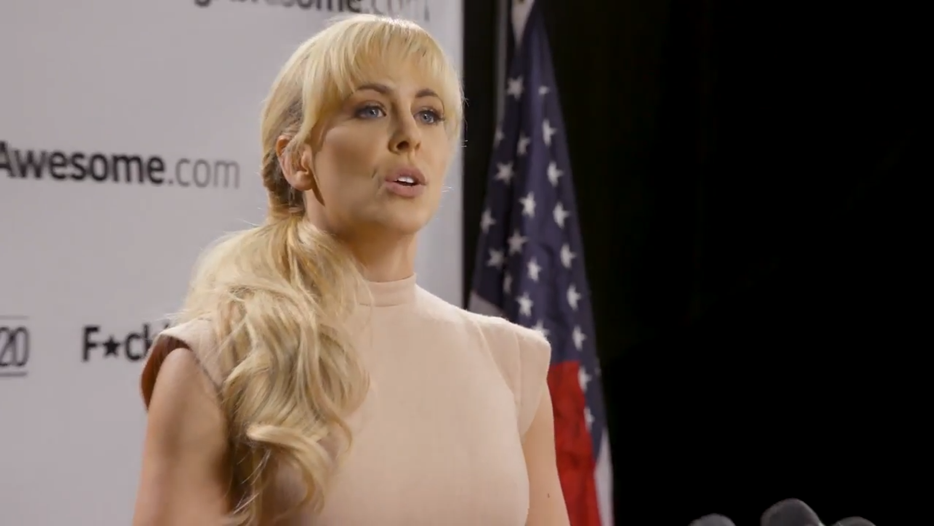 Cherie DeVille, an adult film actress whose real name is Carolyn Paparozzi, made a splash after announcing her bid for president 17 months ago, way ahead of every other candidate, and hoped to run for the Democrat Party's nomination.