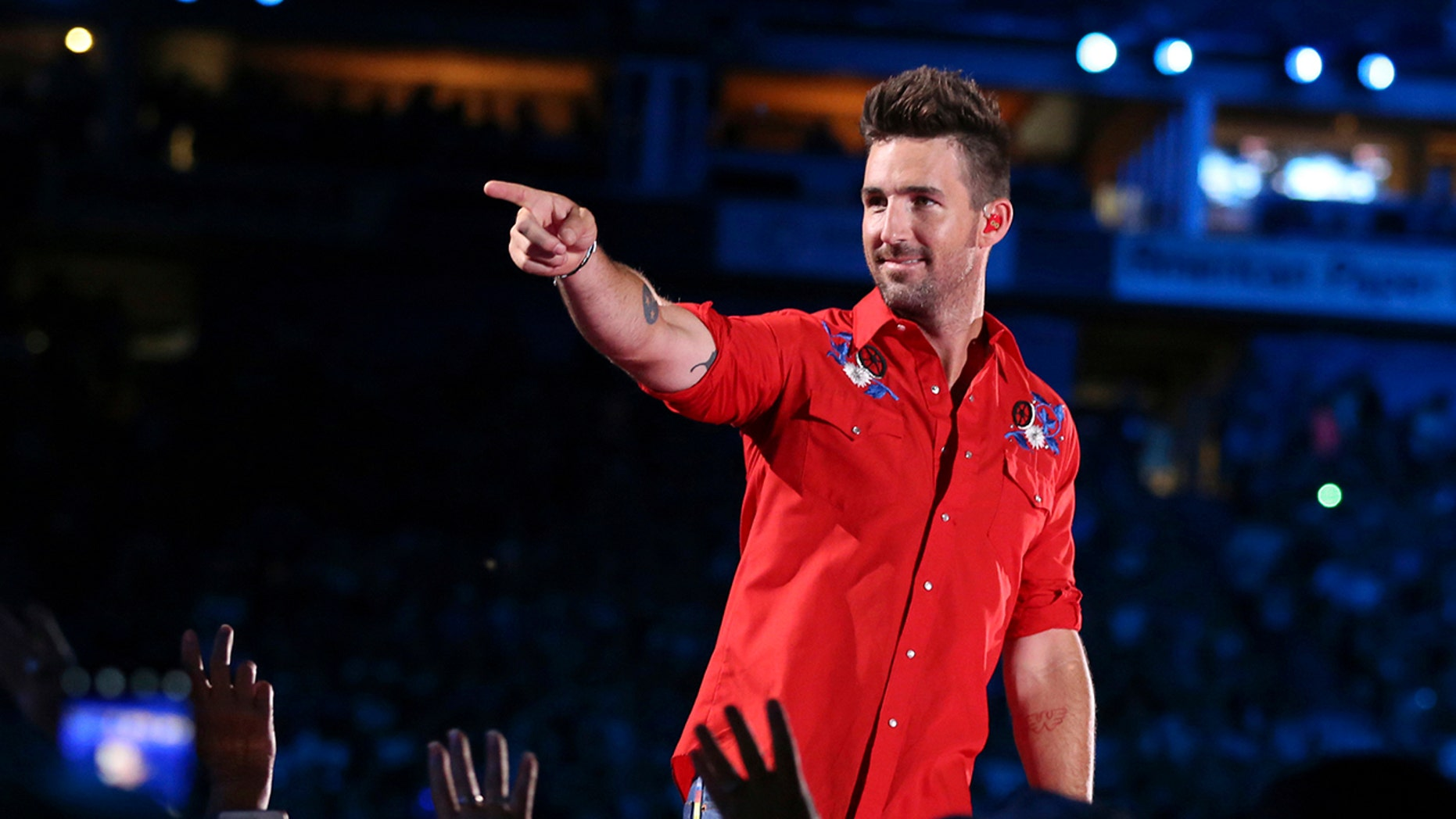 Country music star Jake Owen showed off his ability to rap on New York's Build Series on Monday. (Photo by Laura Roberts/Invision/AP, File)