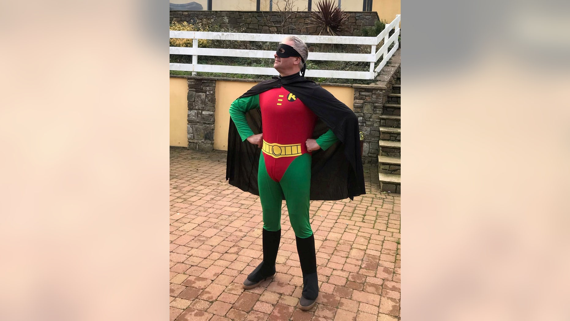 Rob Braddick, the owner of a restaurant in Devon, England, says three diners ran out of his place without paying a nearly $285 bill. He later donned a Robin costume on Facebook while asking for leads.