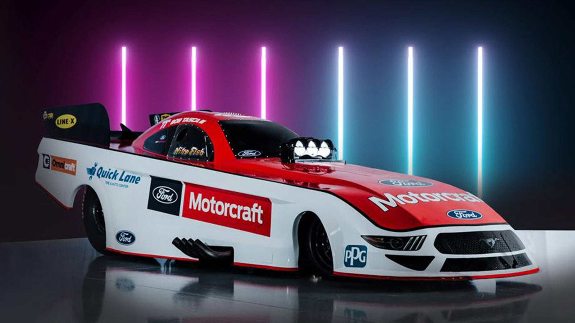New ford mustang funny car ready for 2019 nhra season