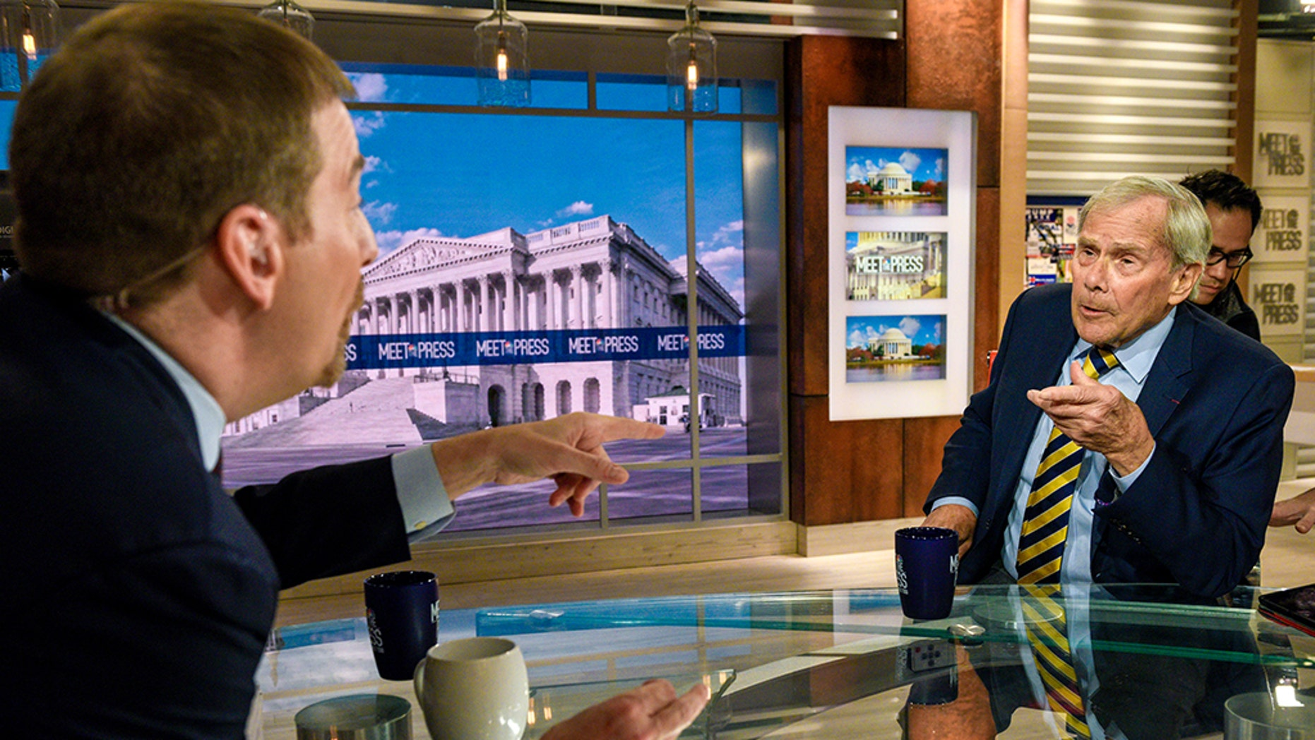 Tom Brokaw, right, backtracked from remarks he gave on