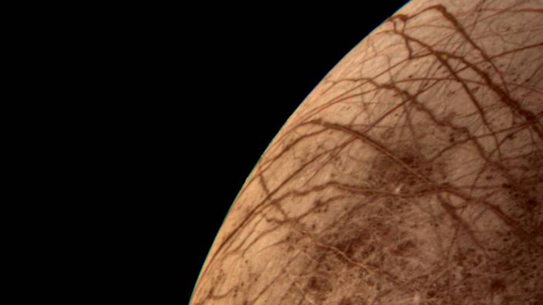 The icy shell on Jupiter's moon Europa may hide a rocky surface that's too strong to be geologically active.