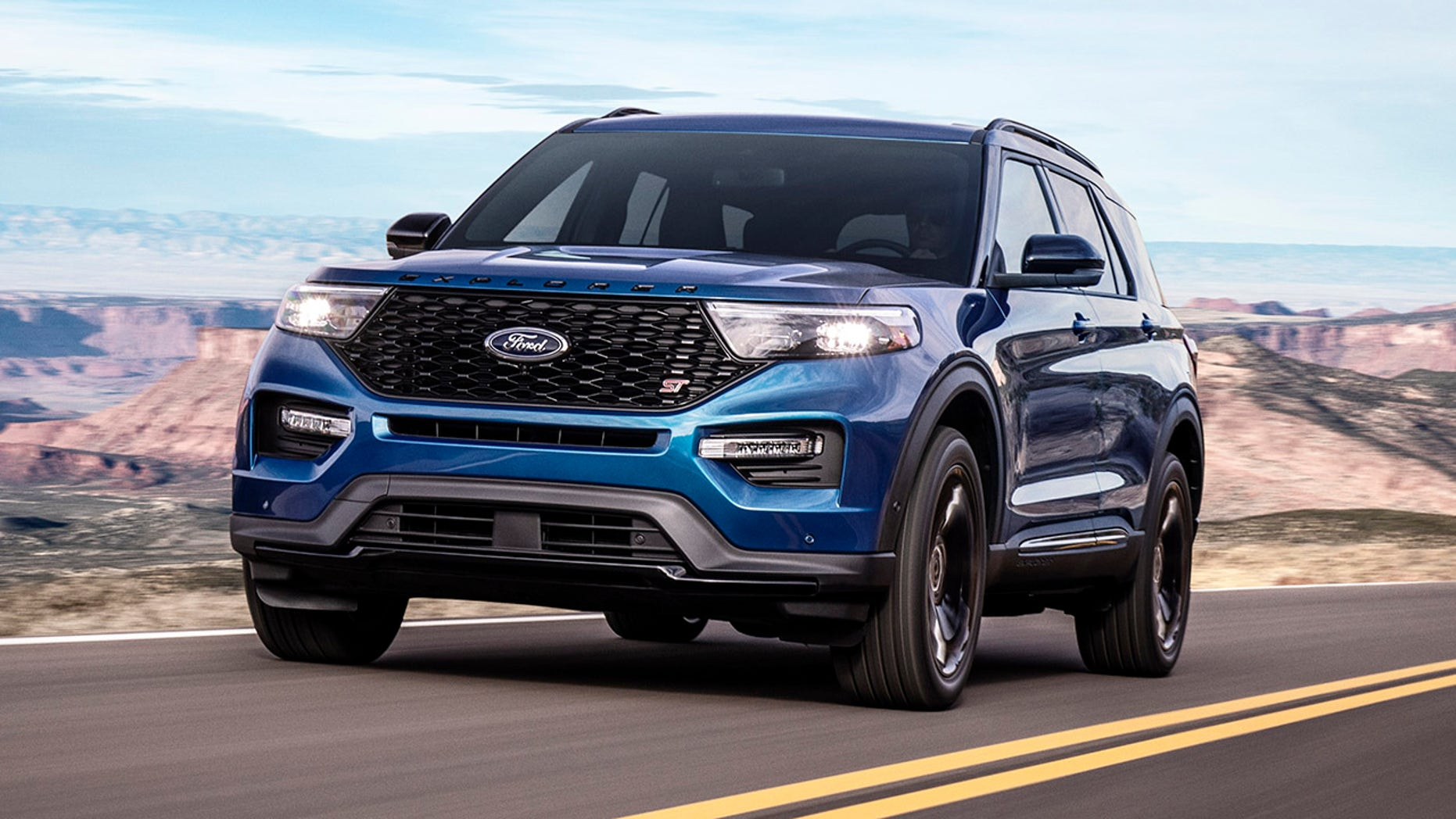 The Explorer ST is Ford's first large performance SUV