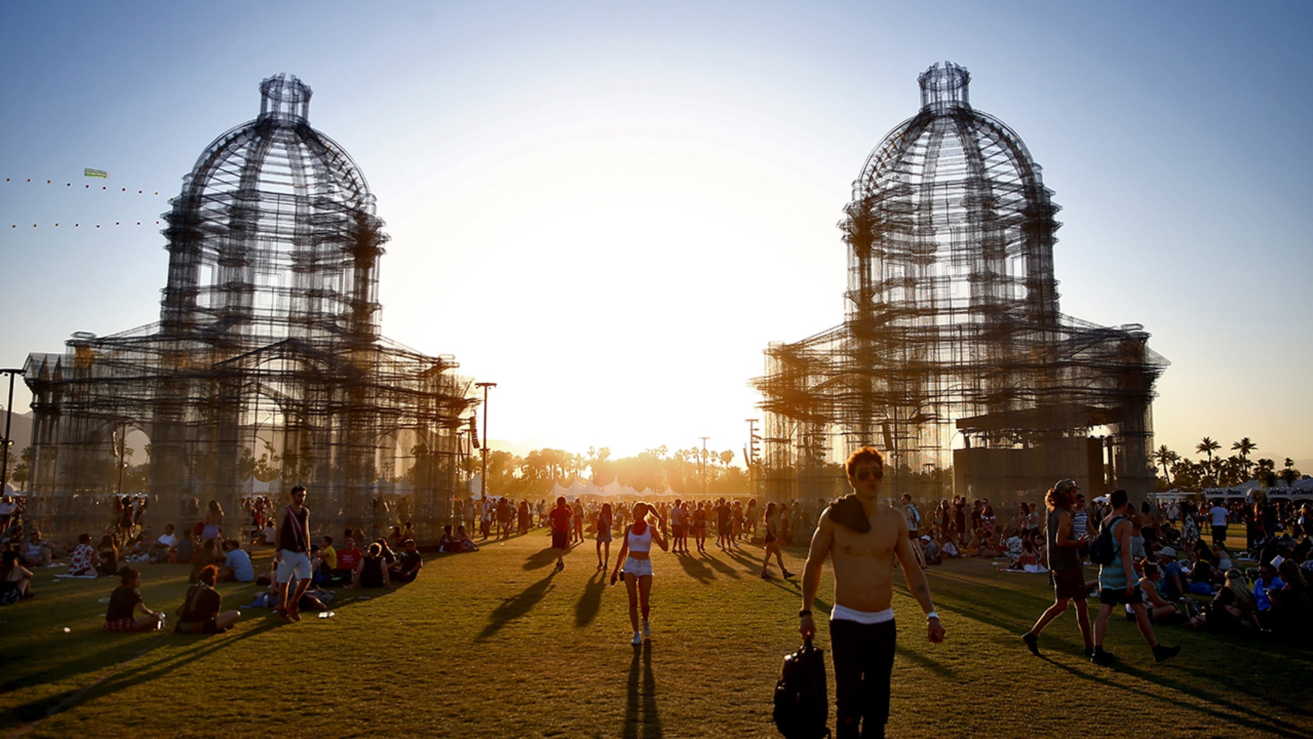 Festivalgoers during the 2018 Coachella Valley Music And Arts Festival at the Empire Polo Field last April in Indio, Calif. (Photo by Rich Fury/Getty Images for Coachella)