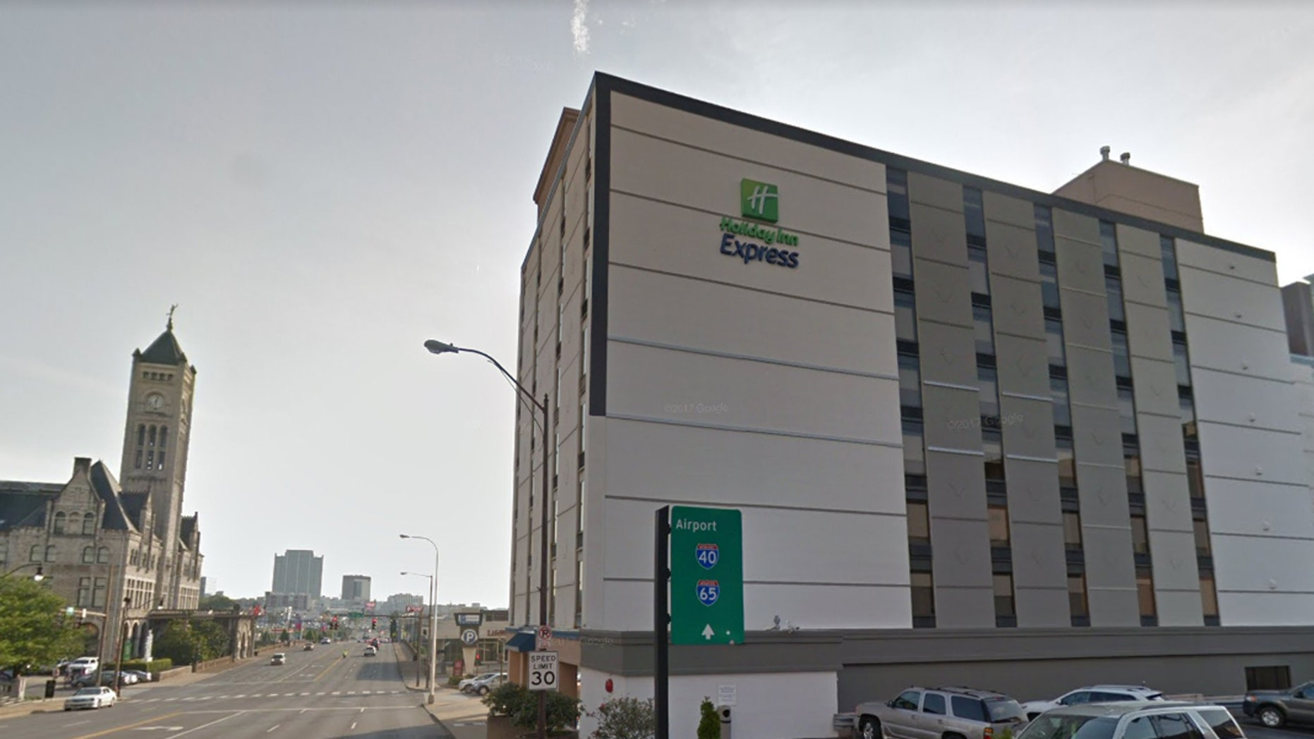 A man was arrested after stealing food from the breakfast buffet at a Holiday Inn in Nashville.