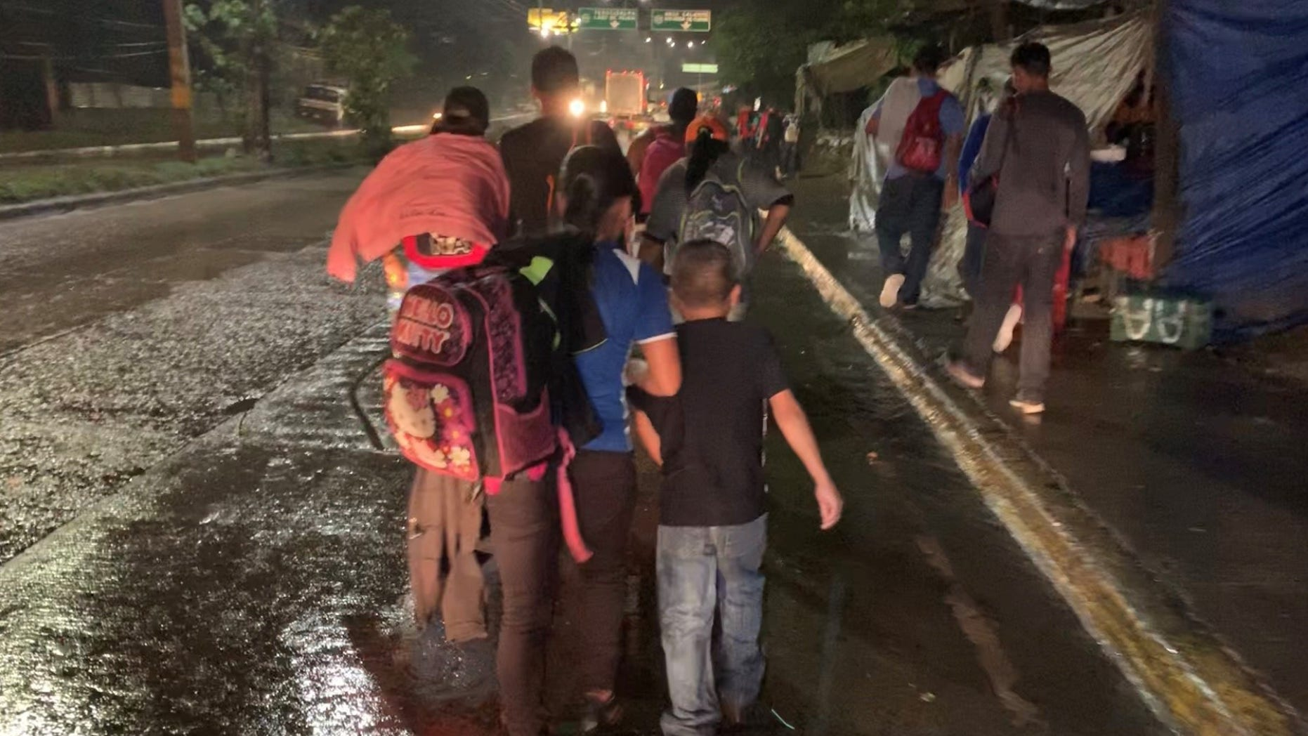 A new caravan left from a bus stop in Honduras late Monday night.