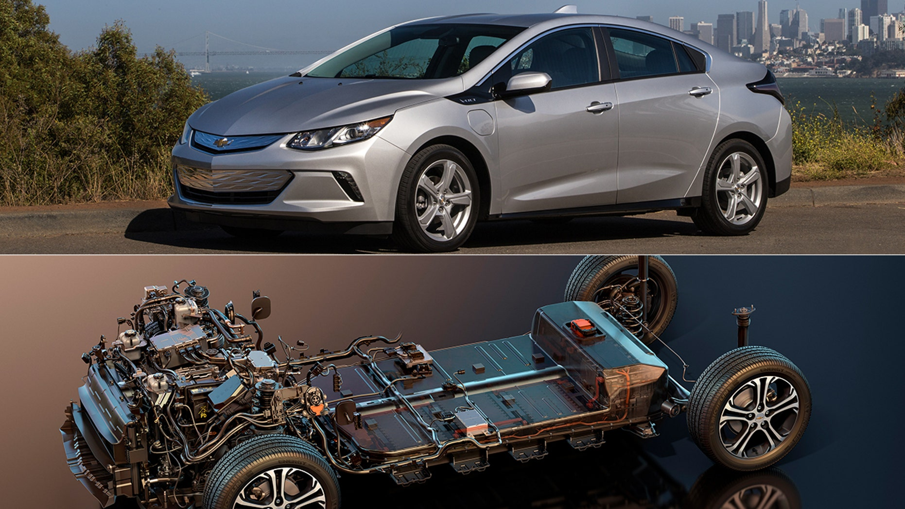 The Chevrolet Volt (top) is being discontinued in favor of vehicles built on fully electric platforms like the Chevrolet Bolt's (bottom).