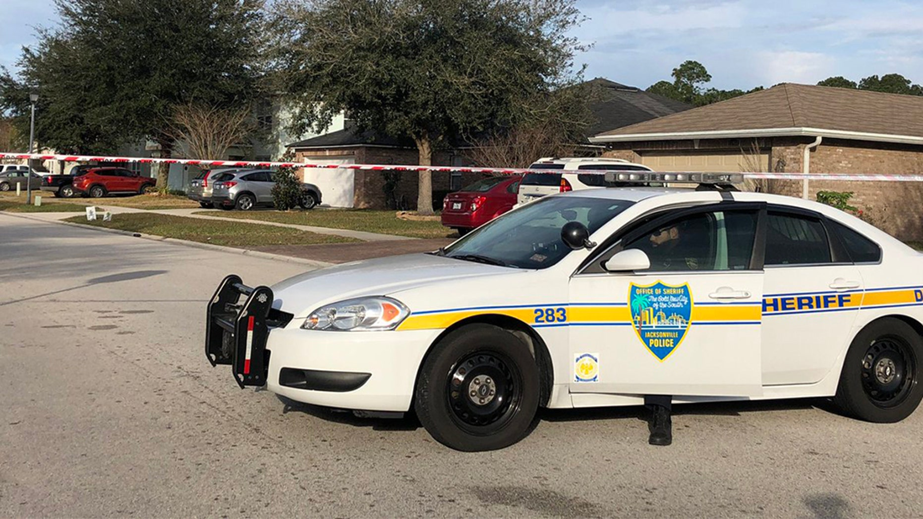Deputies with the Jacksonville Sheriff's Office were investigating a shooting Saturday in which three people were killed in what they believe was a murder-suicide. Two others were critically wounded.