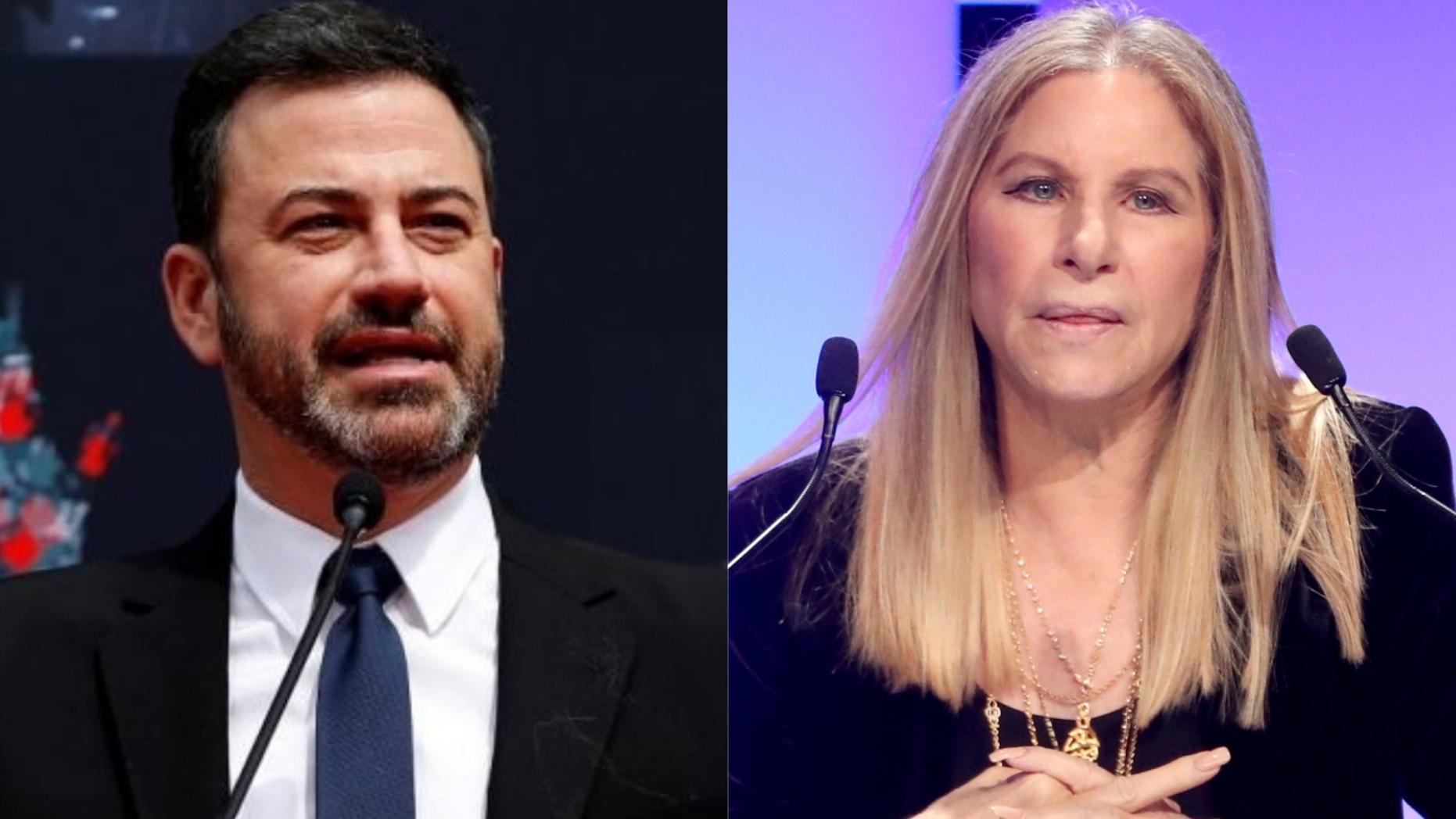Jimmy Kimmel and Barbra Streisand