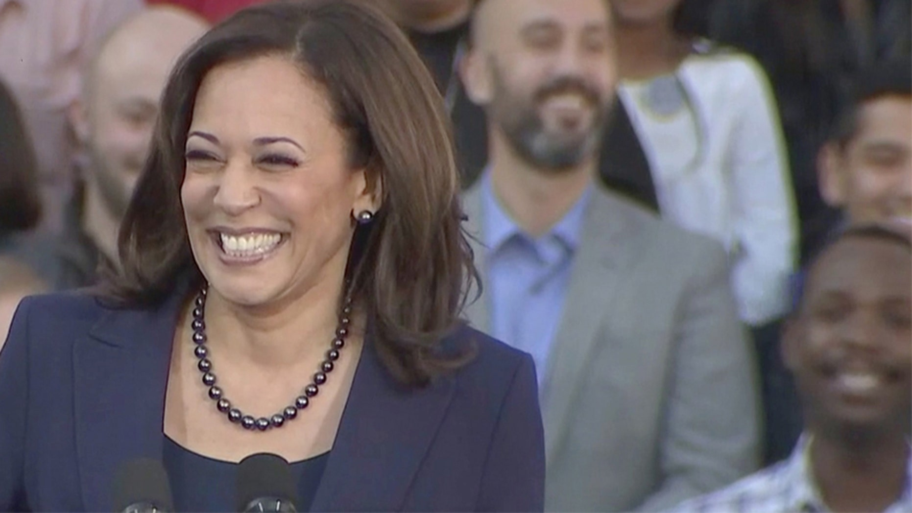 Harris kicks off presidential campaign by laying into Trump