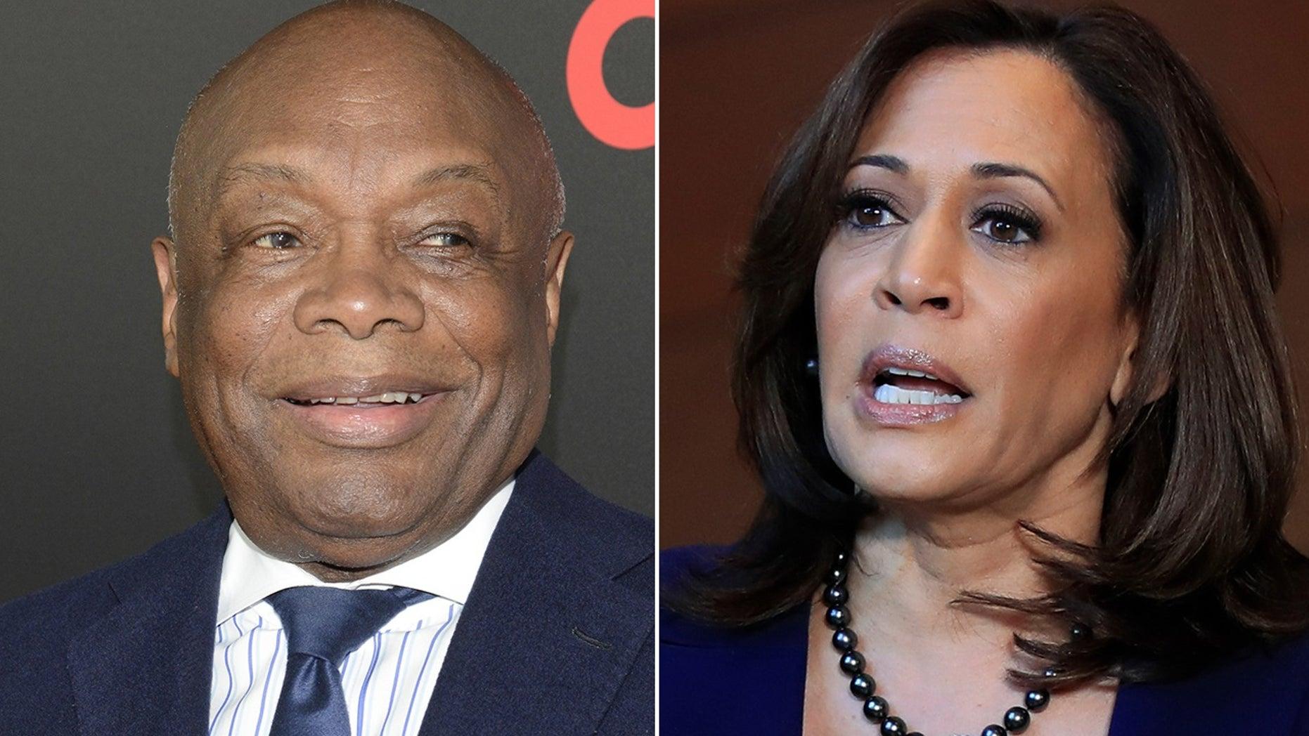 Former San Francisco Mayor Willie Brown and US Senator Kamala Harris