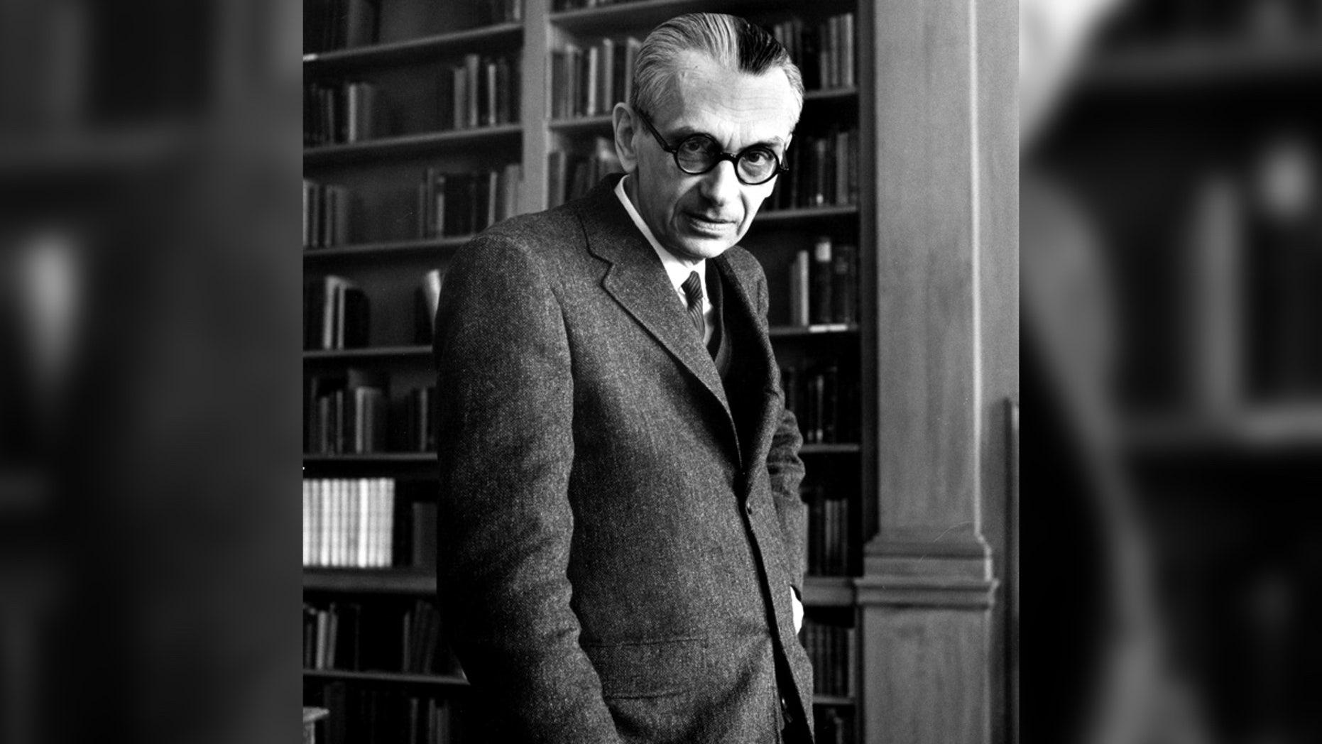 Austrian-born mathematician Kurt Godel during a Institute of Advanced Study.
