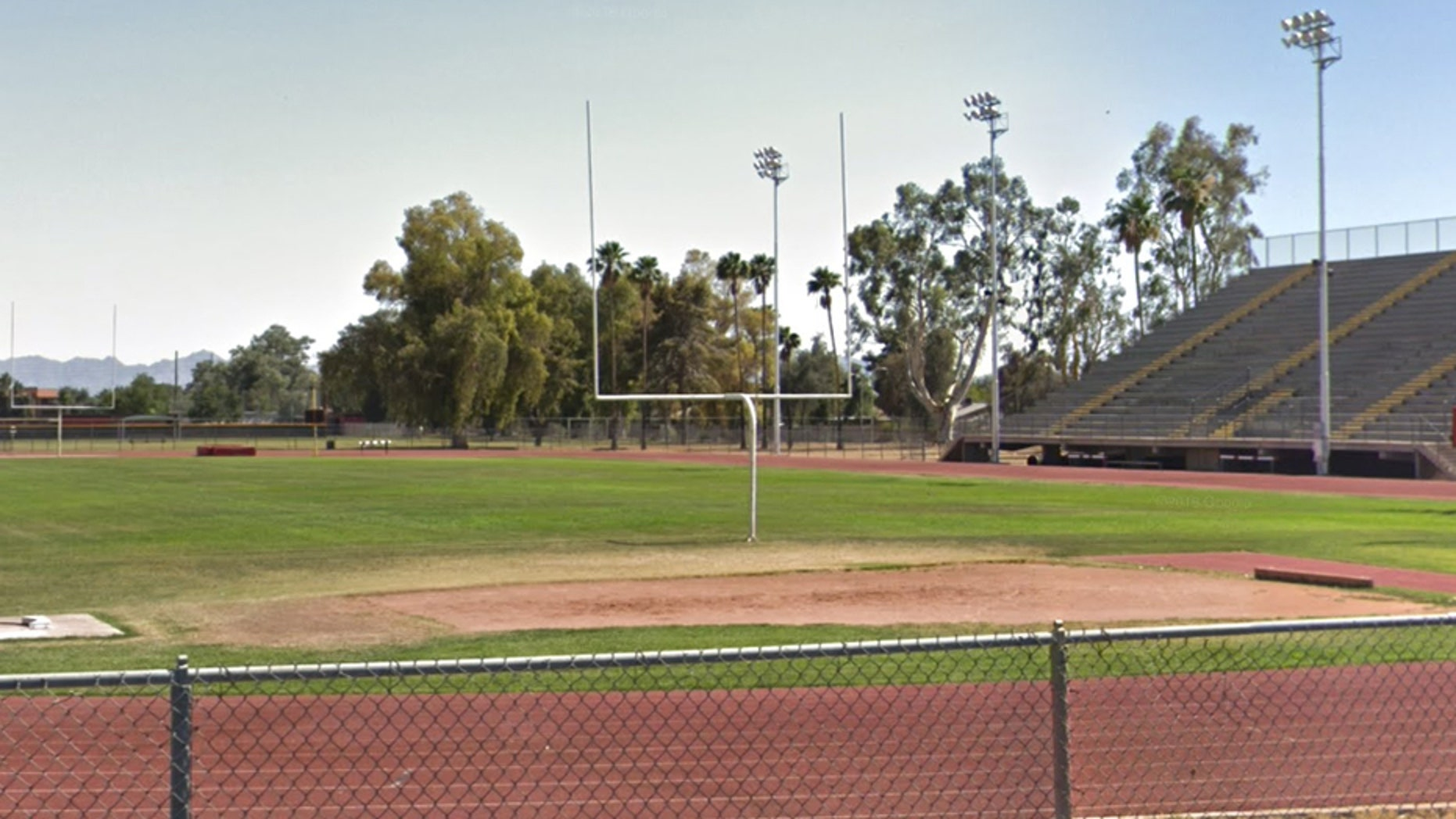The football field at Glendale Community College. In February this year, the Maricopa County Community College District shuttered its junior college football program.