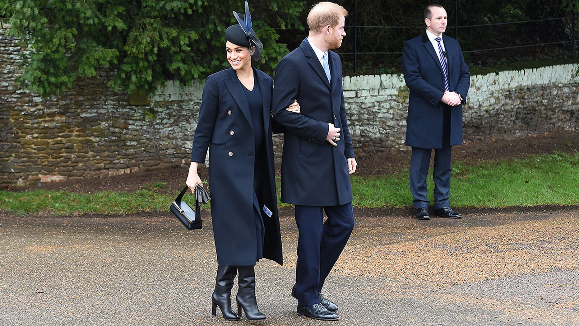 Meghan Markle wearing Victoria Beckham's designs on Christmas 2018 with Prince Harry