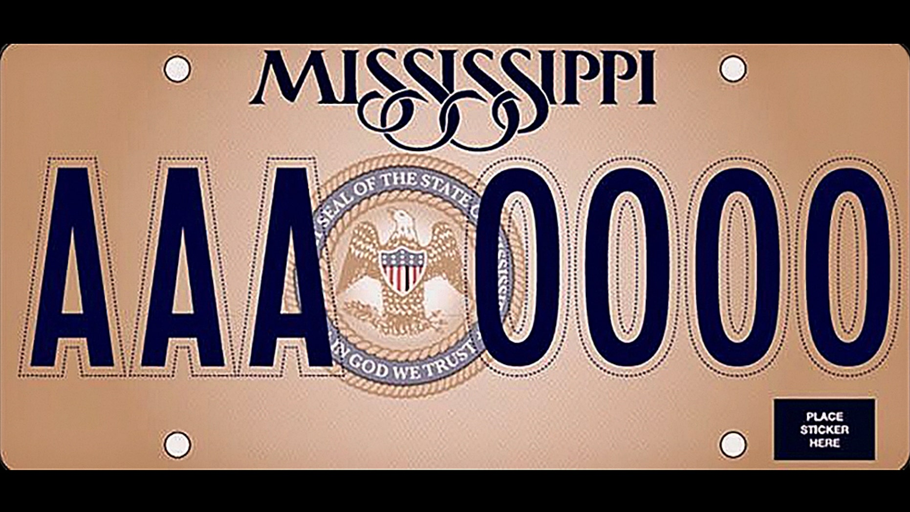 Mississippi unveils new state license plates with 'In God We