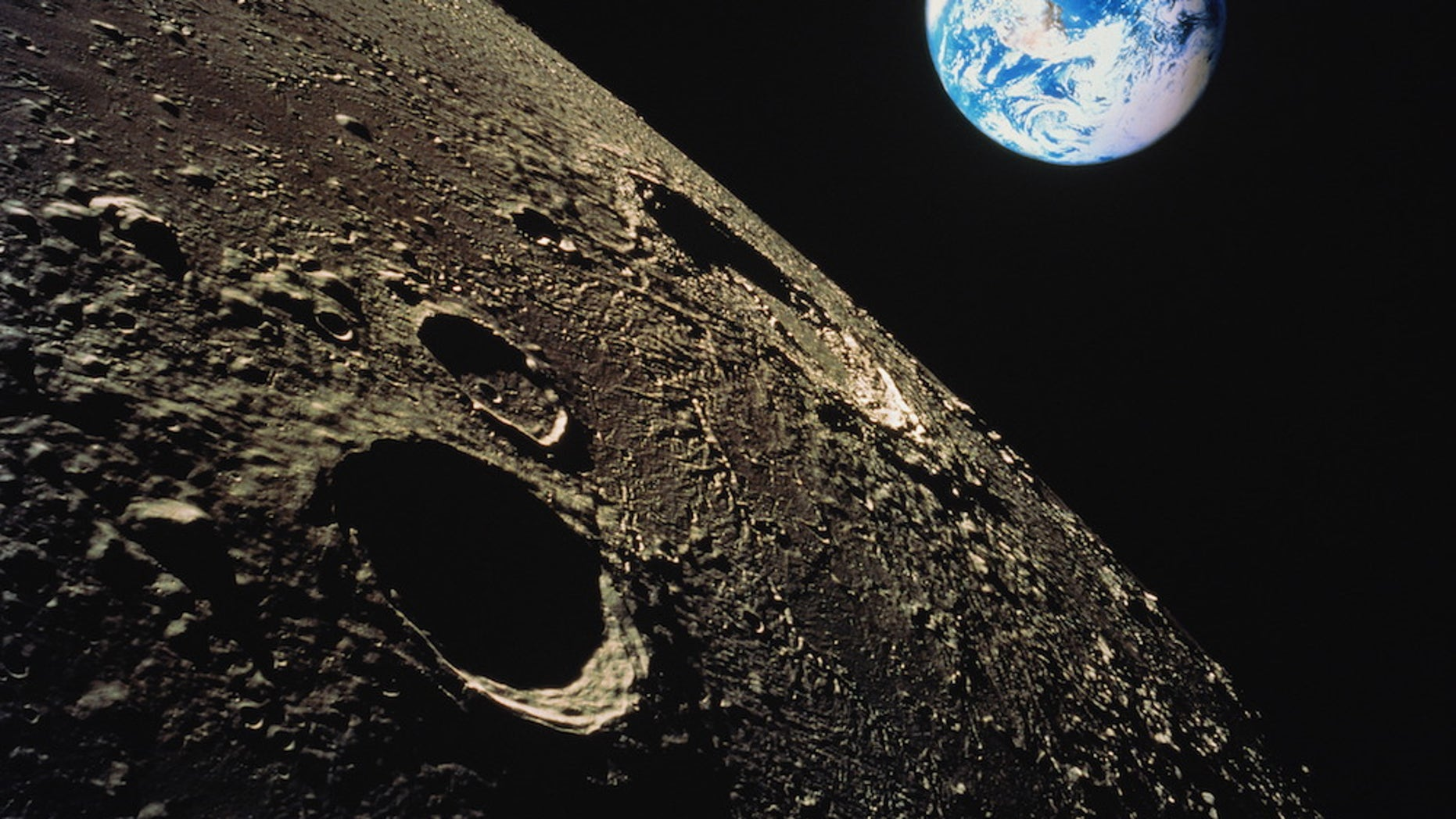 """Is the moon really """"a harsh mistress?"""" (Composite image)"""