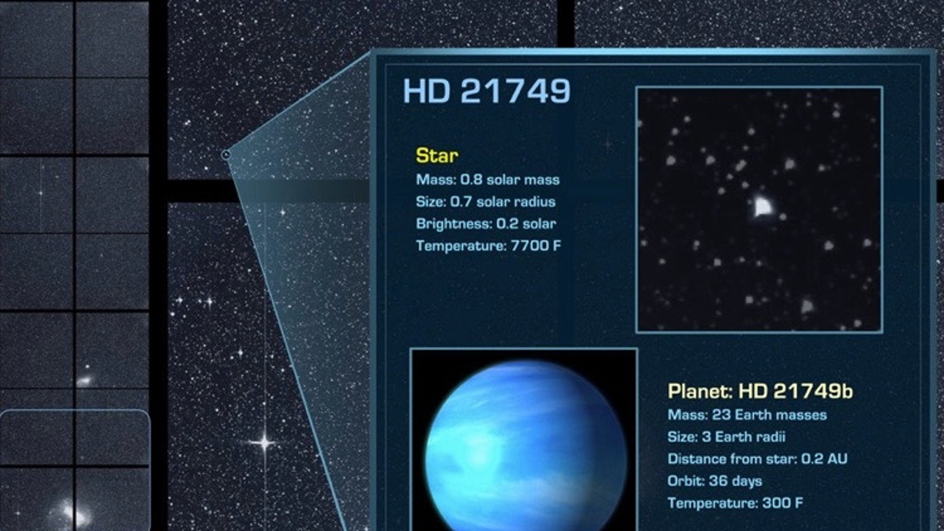"""Using the first three months of publicly available data from NASA's TESS mission, scientists have confirmed a new planet known as HD 21749b, a """"sub-Neptune"""" three times bigger and 23 times more massive than Earth. HD 21749b lies about 53 light-years from Earth and orbits a star about the the size of the sun."""