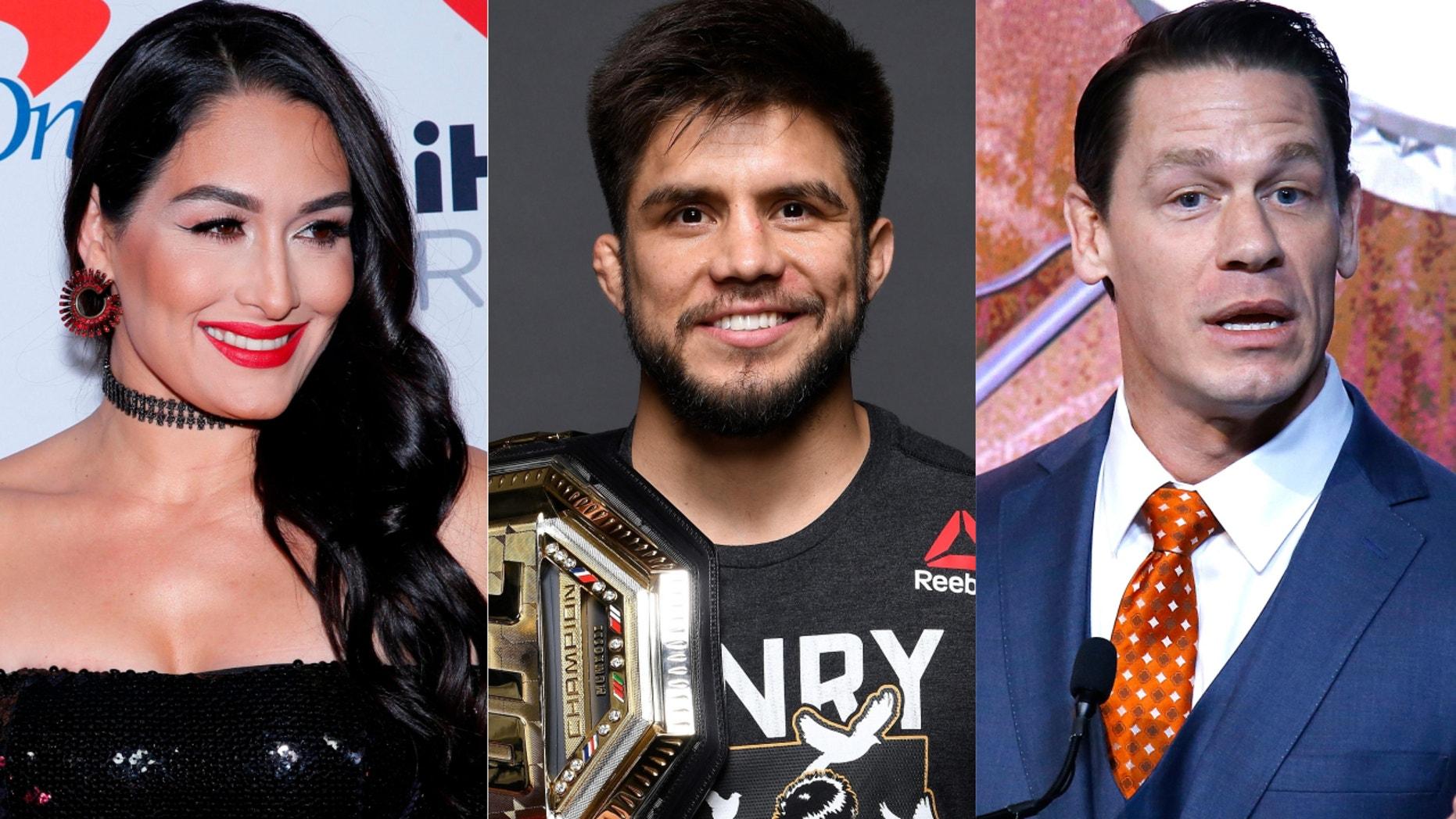 Nikki Bella, Henry Cejudo and John Cena