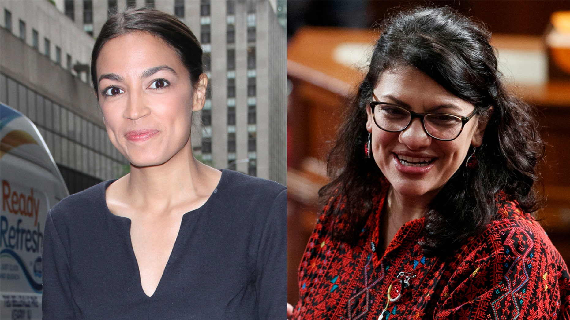Rep. Alexandria Ocasio-Cortez took a stand for fellow House freshman  Rashida Tlaib on Saturday after the latter's expletive-laced comments in favor of impeaching the president.