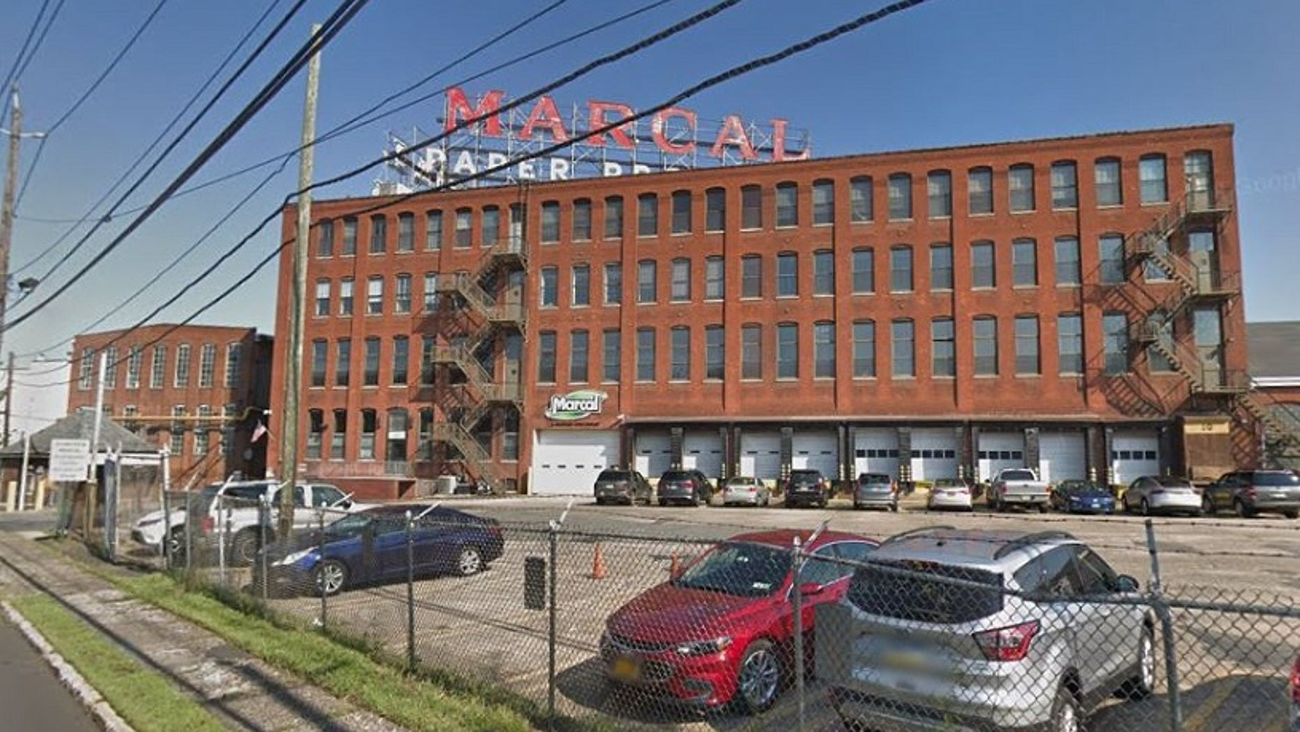 A fire destroyed an iconic red sign that sat atop the Marcal Paper Mill in New Jersey. (Google Maps)