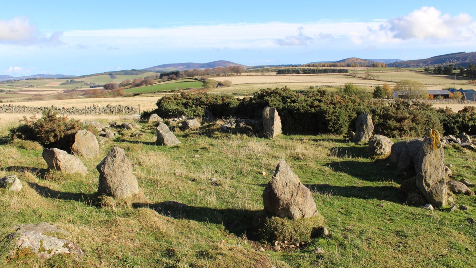 The Neolithic stone circle near the village of Alford, west of Aberdeen, was unknown to archaeologists until recently – but well-known to local people.