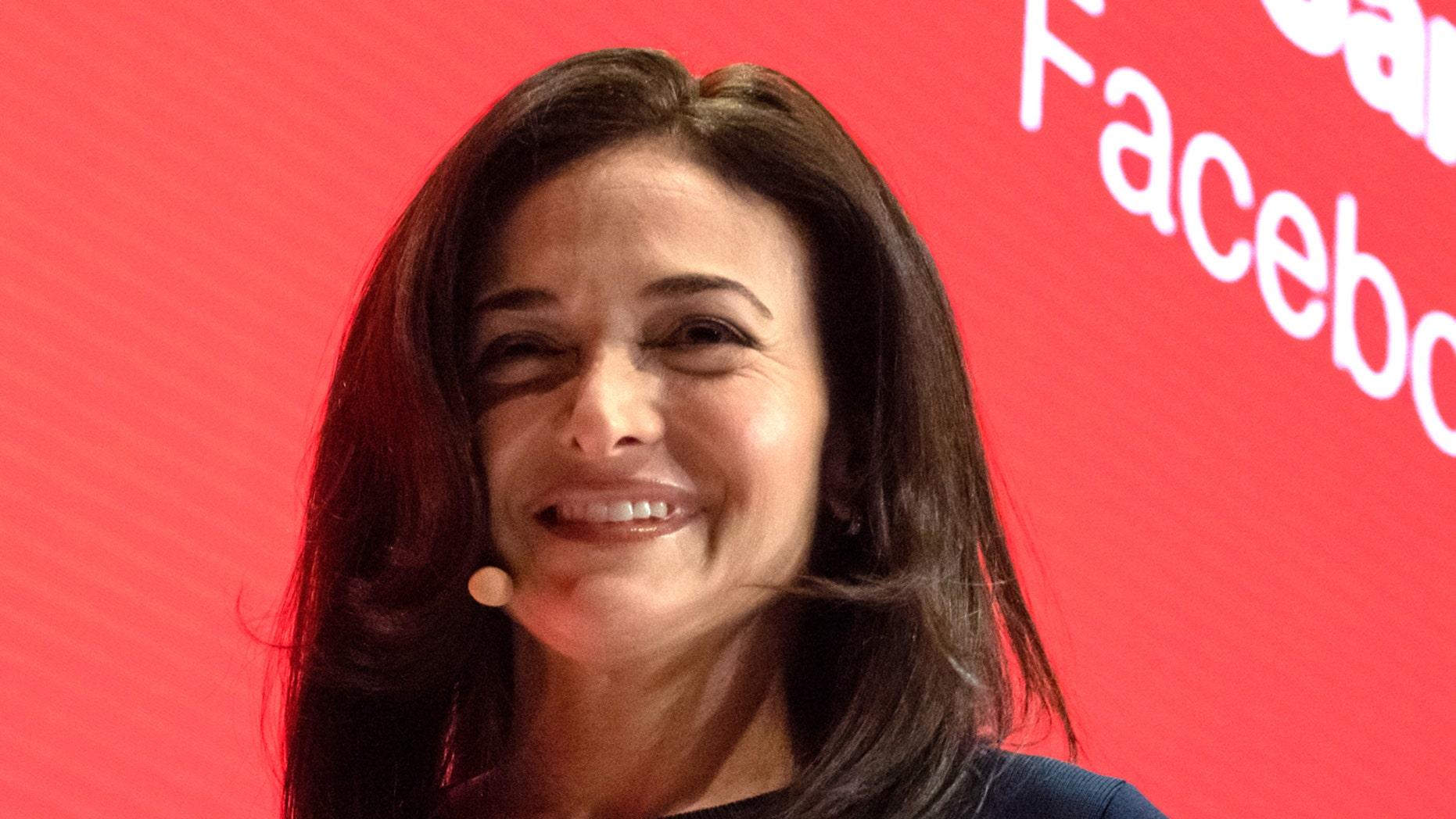 Sheryl Sandberg, Managing Director of Facebook, speaks onstage at the Digital Life Design (DLD) innovation conference.