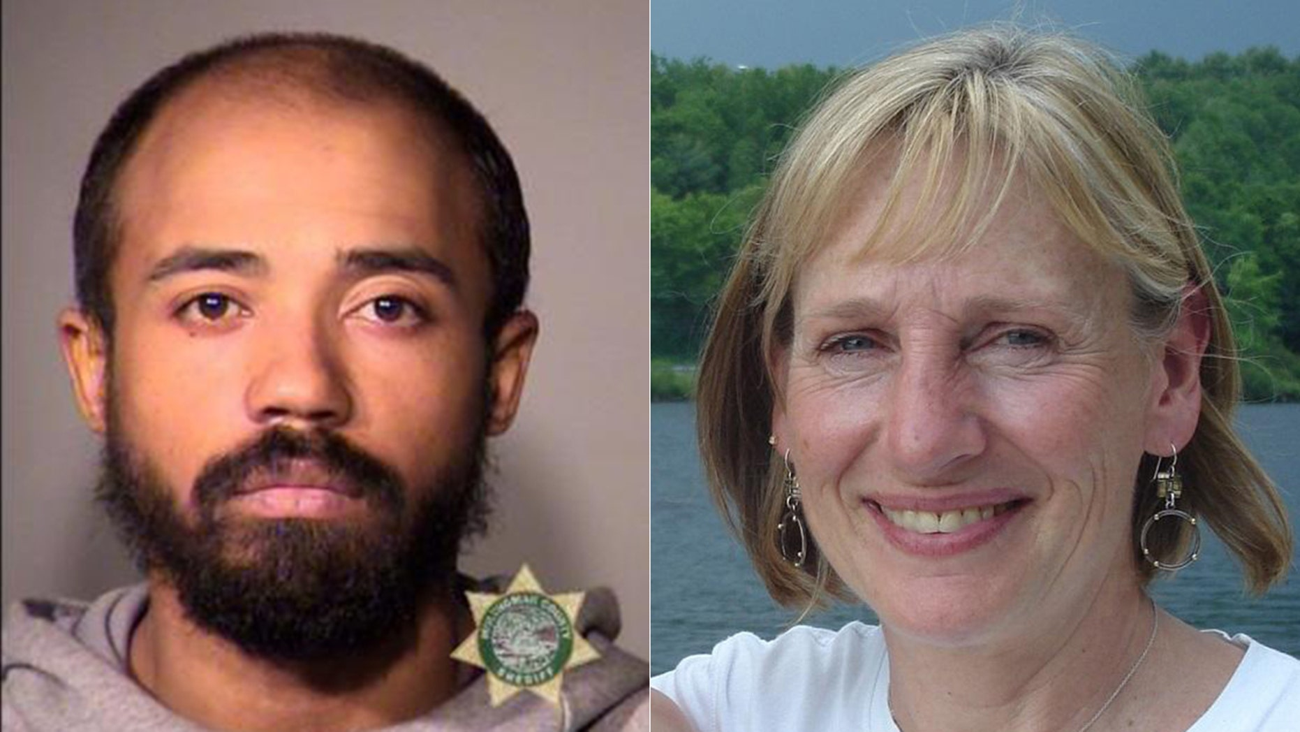 Mugshot for 28-year-old Christopher Williamson (l.) charged Friday with killing Portland public defender Nancy Bergeson, 57, (r.) a decade ago.