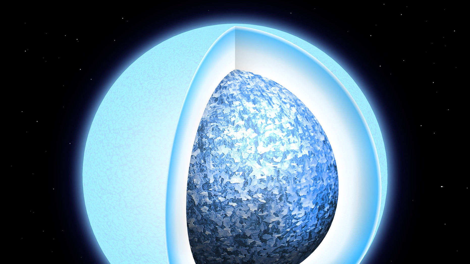 Astronomers observe white dwarf stars solidifying into crystals
