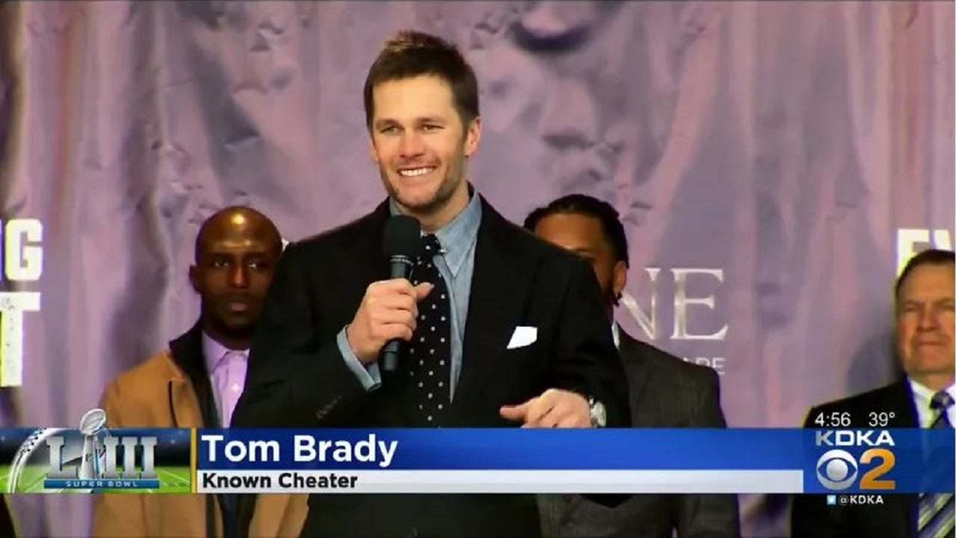 """A graphic that showed Tom Brady as a """"Known Cheater"""" led to a producer getting fired."""