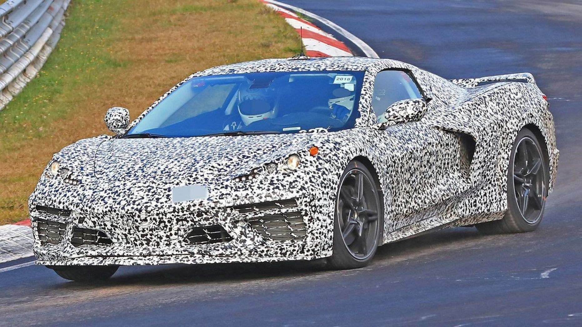A mid-engined GM car has been spotted being tested on public roads and racetracks.