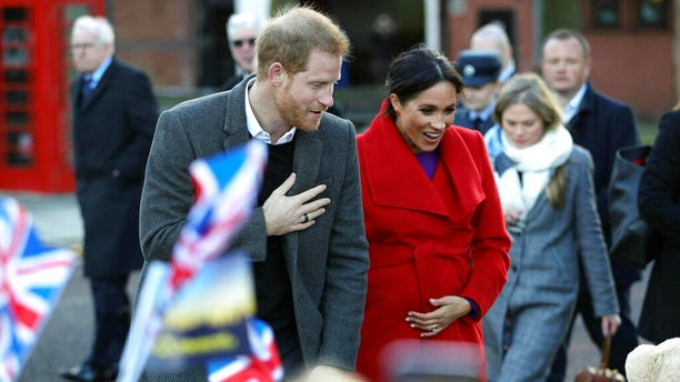 Meghan, the Duchess of Sussex, told fans she was six months pregnant and due in late April or early May, reports said.