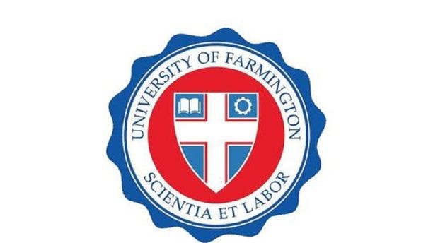 Logo of the University of Farmington in Farmington Hills, Michigan.