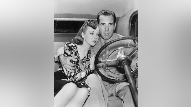 Ida Lupino with Humphrey Bogart.