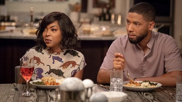 "Taraji P. Henson and Jussie Smollett in the ""Treasons, Stratagems, and Spoils"" episode of ""Empire."""