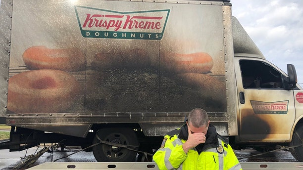 The Lexington Police Department in Kentucky went viral for their response to a Krispy Kreme Doughnuts truck catching fire and losing all the goods inside.