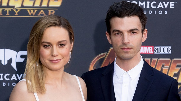 "Brie Larson and Alex Greenwald at the premiere of ""Avengers: Infinity War"""