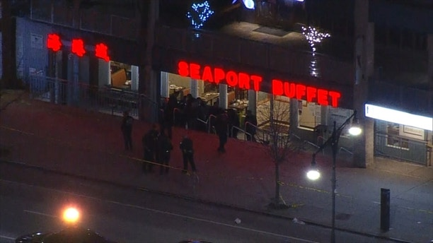A Man with hammer attacks 3 people at a Sheepshead Bay, Brooklyn, restaurant; 1 dead.