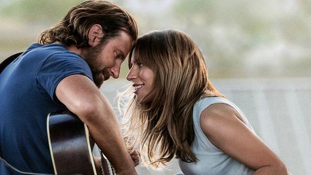 "Oscar nominees Bradley Cooper and Lady Gaga in ""A Star Is Born"""
