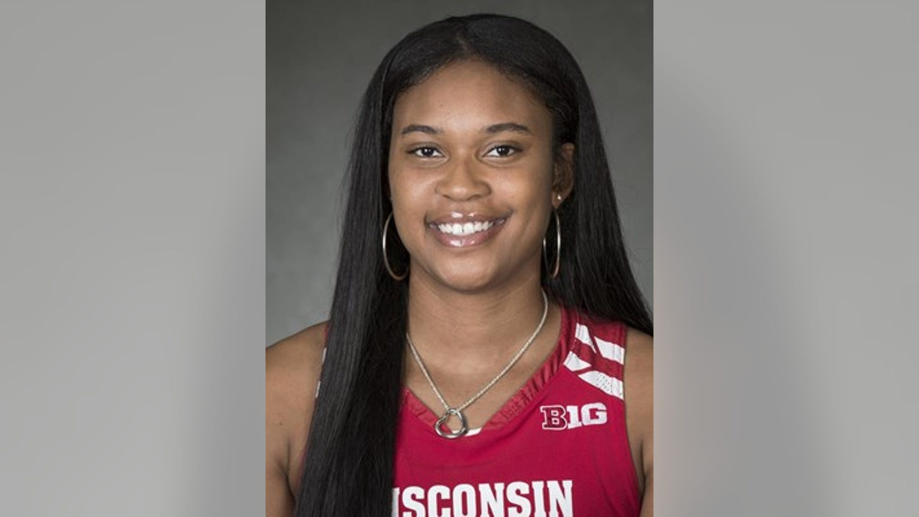 Marsha Howard, a basketball player at the University of Wisconsin, has been sitting during the national anthem. (Wisconsin Badgers website)