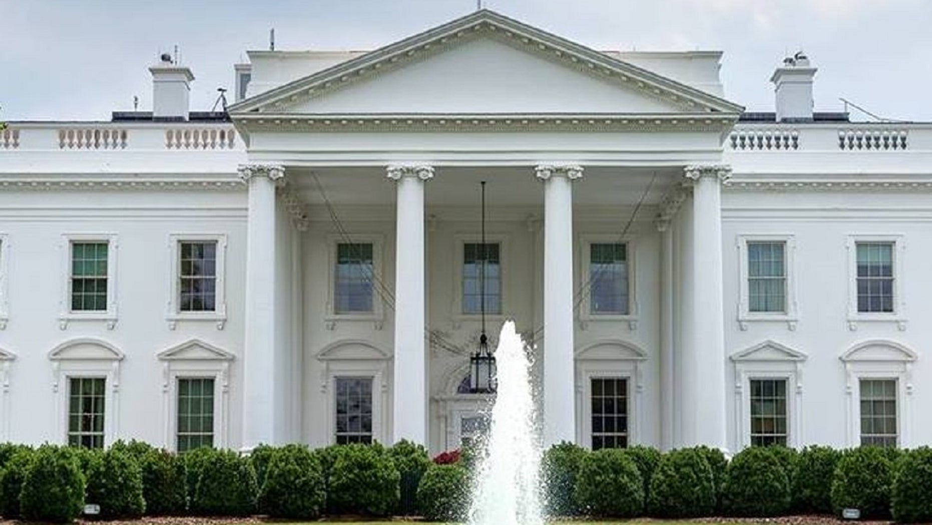 A man allegedly struck a U.S. Secret Service officer outside the White House on Monday. (Facebook via White House)