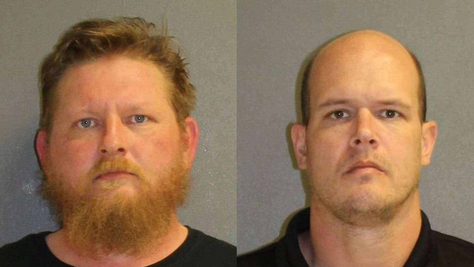 Lafe Best, 37, (left) and Benjamin Worster, 39, (right) were accused of trying to groom and rape a 3-year-old girl.