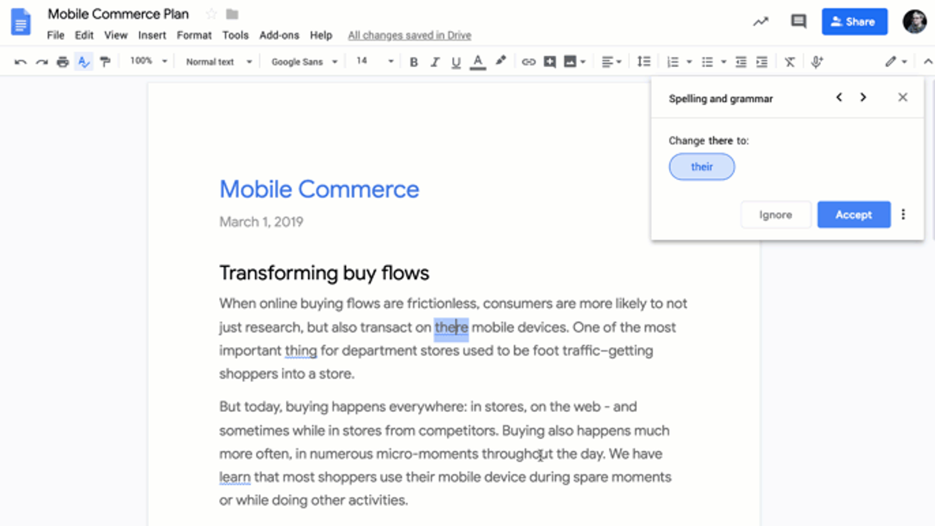 Google rolls out grammar suggestions for G Suite users