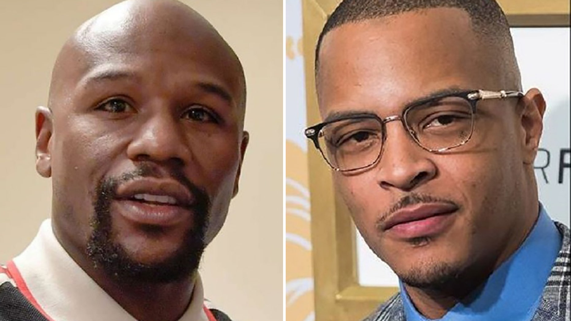 Floyd Mayweather, left, was slammed by rapper T.I. on Thursday for not participating in a boycott against Gucci.